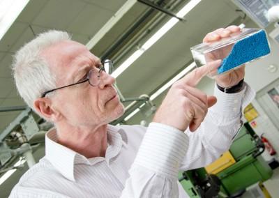 Qualitätsprüfung eines Masterbatches im Labor
